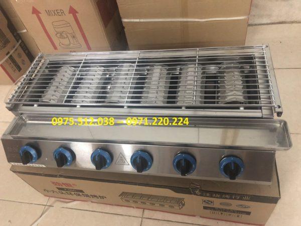 bếp nướng BBQ dùng gas 6 họng